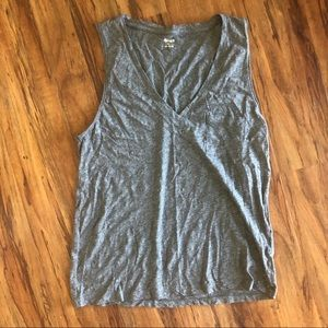 Madewell   V-Neck Heathered T Shirt